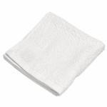 Washcloths, Royal Hotel, 13x13, 1.5 Lbs, 100% Cotton, Dobby, Hemmed Edges, White