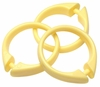 Yellow Snap Type Round Plastic Shower Curtain Rings w/Snap Lock - Value Choice