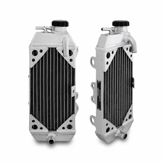 Kawasaki KX250F Braced Aluminum Dirt Bike Radiator, 2006-2008 - Click to enlarge