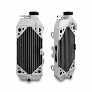 Kawasaki KX80/KX85/KX100 Braced Aluminum Dirt Bike Radiator, 1998-2013