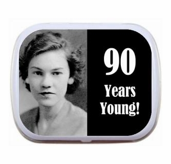 Personalized Photo 90th Birthday Party Favor Mint Tins