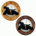 American Cocker Spaniel Wall Clock-Black