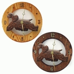 American Cocker Spaniel Wall Clock-Brown
