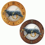 Australian Cattle Dog Wall Clock-Blue