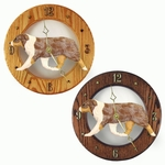 Australian Shepherd Wall Clock-Red Merle