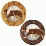 Australian Shepherd Wall Clock-Red Tri