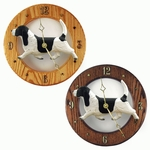 Basset Hound Wall Clock-Black-White