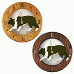 Border Collie Wall Clock-Black
