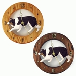 Border Collie Wall Clock-Black Tri