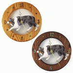 Border Collie Wall Clock-Blue Merle