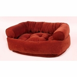 Bowsers Double Donut Dog Bed-Pomegranate