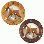 Boxer (natural) Wall Clock-Fawn