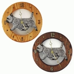 Cairn Terrier Wall Clock-Light Grey