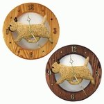 Cairn Terrier Wall Clock-Wheaten