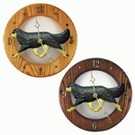Cavalier King Charles Spaniel Wall Clock-Black and Tan