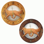 Cavalier King Charles Spaniel Wall Clock-Ruby