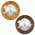 Clumber Spaniel Wall Clock-Lemon