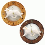 Clumber Spaniel Wall Clock-Orange