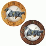 Collie Wall Clock-Blue