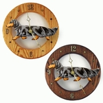 Dachshund (long hair) Wall Clock-Blue Dapple
