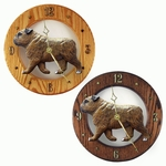 English Bulldog Wall Clock-Brindle