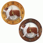 English Bulldog Wall Clock-Red