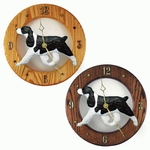 English Springer Spaniel Wall Clock-Black