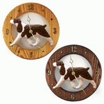 English Springer Spaniel Wall Clock-Liver