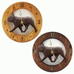 French Bulldog Wall Clock-Black Brindle