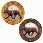 French Bulldog Wall Clock-Red Brindle