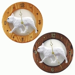 French Bulldog Wall Clock-White