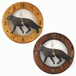 German Shepherd Wall Clock-Black