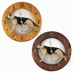 German Shepherd Wall Clock-Tan w- Black Saddle