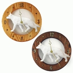 German Shepherd Wall Clock-White