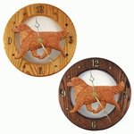 Golden Retriever Wall Clock-Dark