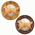 Golden Retriever Wall Clock-Light