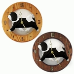 Havanese Wall Clock-Black-White