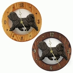 Havanese Wall Clock-Dark Grey