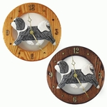Havanese Wall Clock-Grey-White