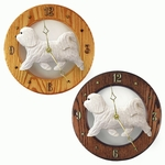 Havanese Wall Clock-White