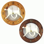 Jack Russell Terrier Wall Clock-Brown-White