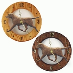 Labrador Retriever Wall Clock-Chocolate