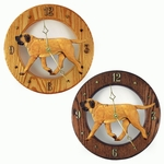 Mastiff Wall Clock-Apricot