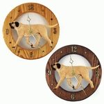 Mastiff Wall Clock-Fawn