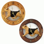 Norfolk Terrier Wall Clock-Black-Tan