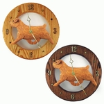 Norfolk Terrier Wall Clock-Red