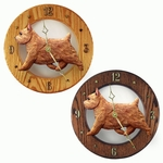 Norwich Terrier Wall Clock-Red