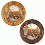 Norwich Terrier Wall Clock-Wheaten