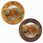 Pekingese Wall Clock-Red