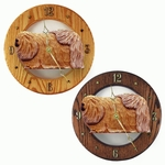 Pekingese Wall Clock-Sable